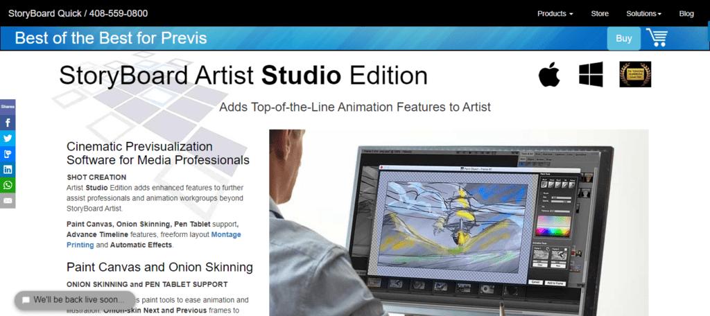 logiciel storyboard - Storyboard Artist Studio
