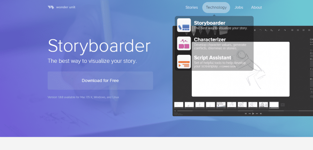 logiciel storyboard - storyboarder